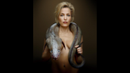 Gillian Anderson poses topless (for a good cause)