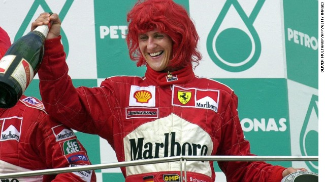 Schumacher celebrated plenty