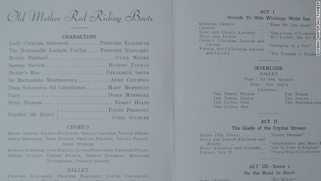 The program for Old Mother Red Riding Boots from 1944.