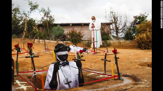 <strong>April 7:</strong> Hermano Hermes performs exorcism rituals in La Cumbre, Colombia. He says he has helped thousands of people get rid of evil spirits possessing them.