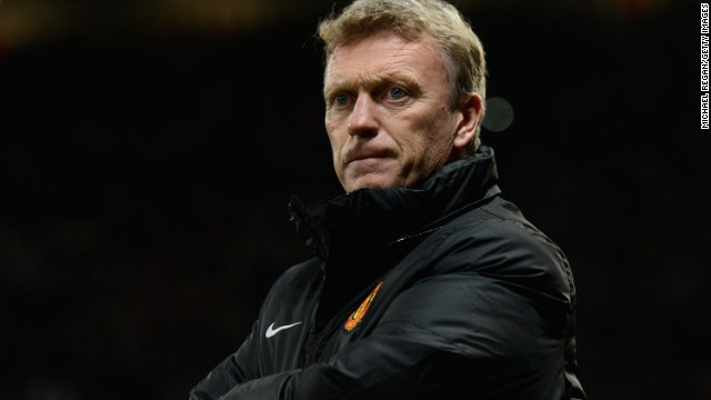 Manchester United manager David Moyes endured a night to forget after his team was beaten by Everton.