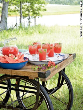 Jennifer Kopf, the home editor for Southern Living, said modern hosts and hostesses want to have access to the bar wherever they entertain -- even keeping mini bar setups in different areas of their home, including the porch or deck.