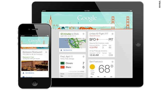Google Now is a personal assistant which delivers customized information it predicts you will want, such as the weather, traffic conditions and the performance of your favorite sports team.