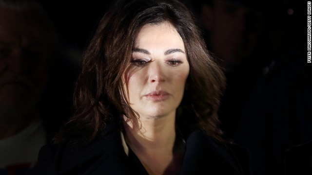 Nigella Lawson leaves court last week in Isleworth, England, after testifying for the prosecution.