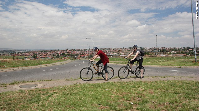 A bicycle tour is a better way to appreciate Soweto street life than from behind the windows of a tour bus.
