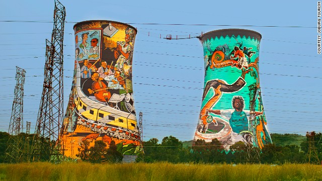 The roads are good but be warned: Soweto has hills, providing great views of sights such as Orlando Towers, which you can bungee jump from.