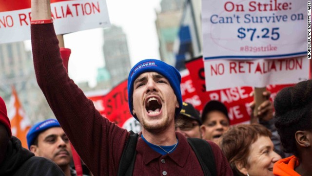 Union-backed groups pay wages for protesting workers