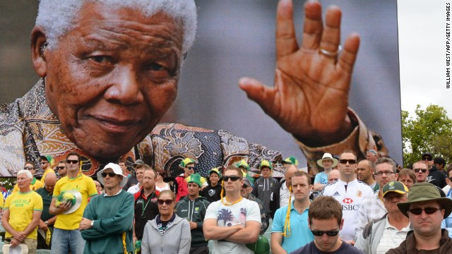 Australian and English cricket fans in Adelaide, Australia, observe a minute of silence Friday, December 6, to mark the passing of Nelson Mandela. Mandela, the revered statesman who emerged from prison to lead South Africa out of its dark days of apartheid, died on Thursday, December 5. He was 95.