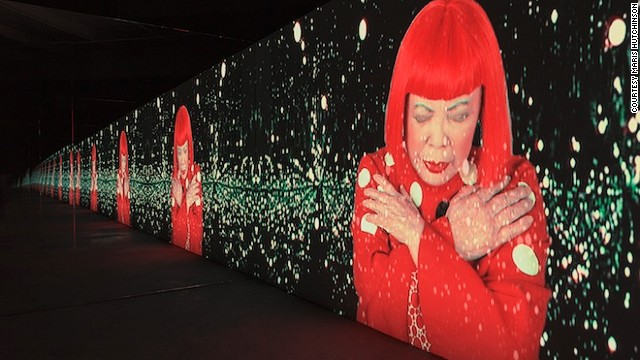 <i>Manhattan Suicide Addict</i> is a video installation that shows Kusama performing a song that she wrote.