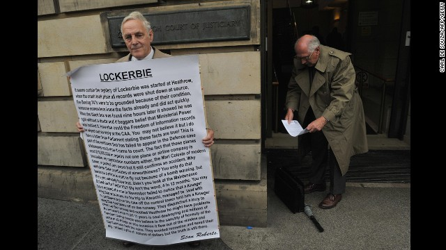The Rev. John Mosey, right, leaves the Edinburgh High Court in August 2009 as Scottish ministers wrangled over whether to let an ailing al Megrahi return home to die in Libya. Al Megrahi would be released from prison on compassionate grounds due to his terminal prostate cancer.