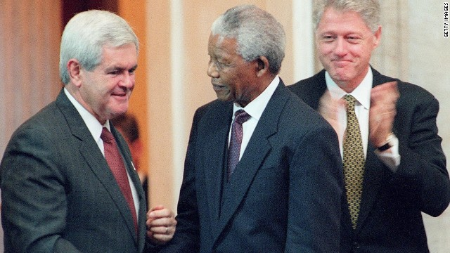 Gingrich pushes back against Mandela critics