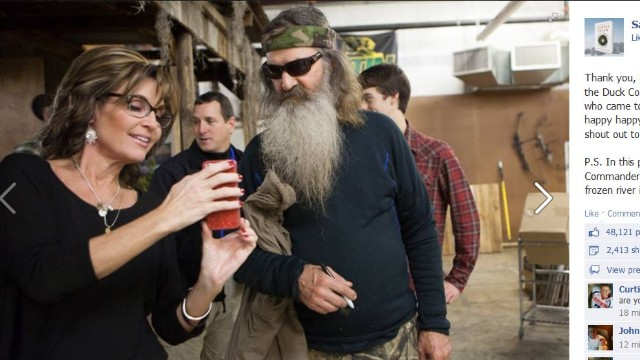 Sarah Palin meets Duck Dynasty 'dudes'