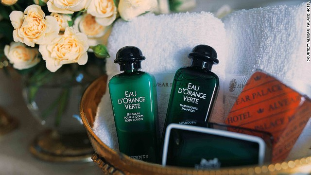 Toiletry stashers rejoice! Famed perfumer Françoise Caron created the popular Eau d'Orange Verte fragrance for Hermés back in 1979. It comes with your room at the Alvear Palace Hotel.
