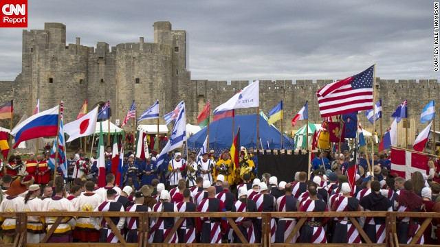 Teams from around the world participate in a medieval martial arts tournament held in the walled city of Aigues-Mortes. Find out more on CNN iReport.