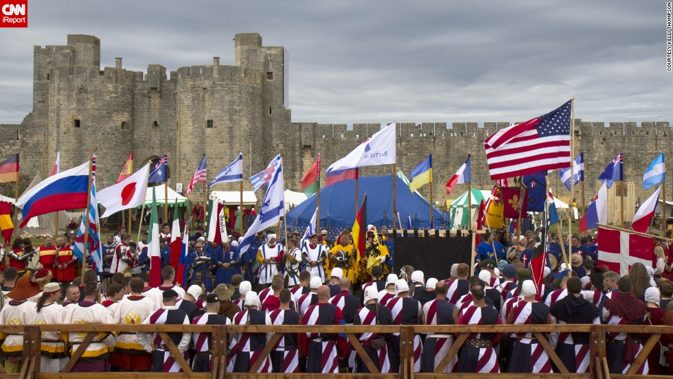 Teams from around the world participate in a medieval martial arts tournament held in the walled city of Aigues-Mortes. Find out more on <a href='http://ireport.cnn.com/docs/DOC-1039024'>CNN iReport</a>.