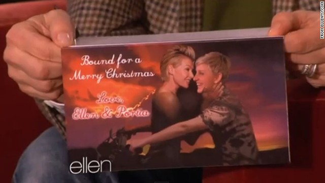 You're 'Bound 2' love Portia and Ellen's holiday card