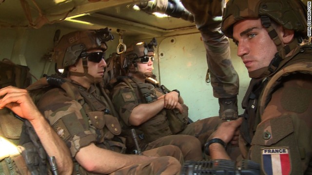 The French peacekeepers want to show both sides in this conflict that they mean business.