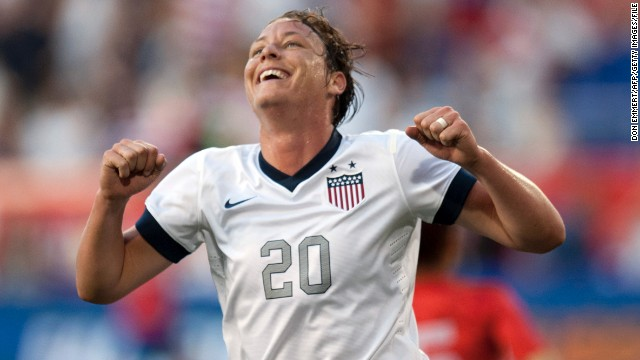 American Abby Wambach grabbed four first-half goals in a 5-0 win over South Korea in June to overtake Mia Hamm as the leading scorer in women's international soccer history. The 33-year-old has 160 international goals -- the most by any male or female player.