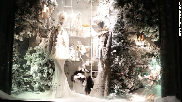 """Holidays on Ice,"" Bergdorf Goodman, New York: Bergdorf's 2013 holiday windows recreate American holidays -- from April Fool's Day to Christmas -- in fanciful fashion. The team is already at work designing next year's Christmas windows."