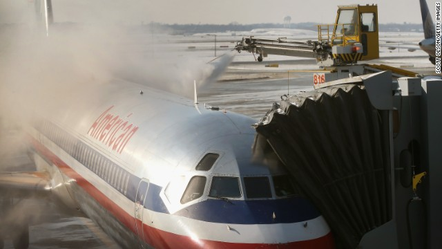 Bad winter weather conditions have caused flight delays and cancellations across much of the United States.