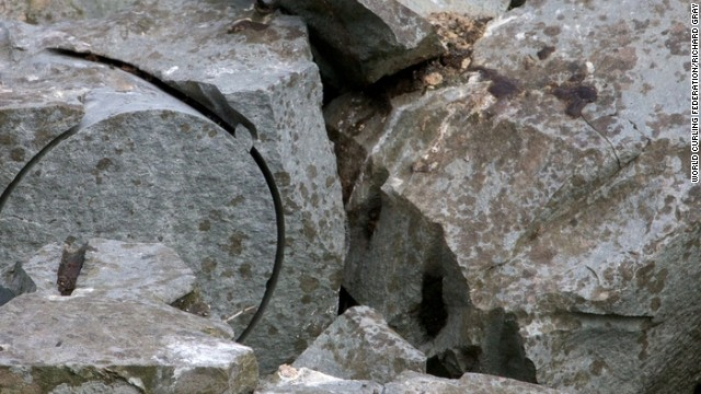The volcanic plug boasts granite thought to be unique on this planet, which is quarried and marked up. In September, 2,000 tons were removed from the island.