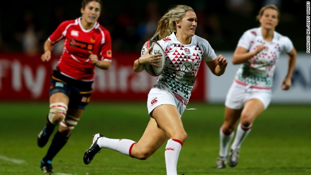 Megan Ellery made a stunning debut at the Women's Dubai Sevens in November by scoring four tries to finish as England's top scorer.