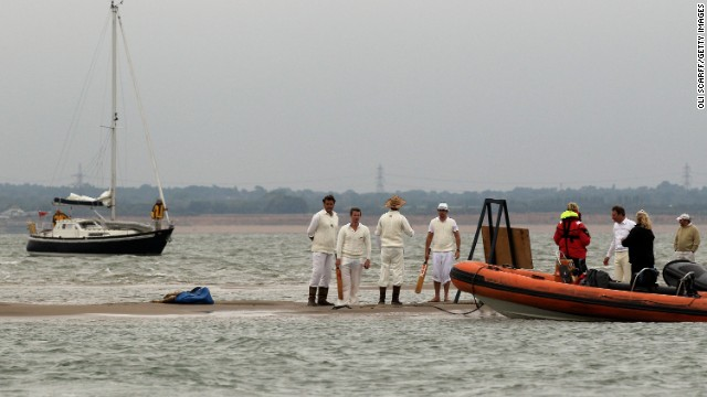 "It takes place when a sandbank appears for a short period of time in the sea, and teams have to be ferried out to ""the pitch"" to take part in the match."