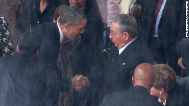 Fidel Castro revela las palabras de Raúl a Obama en funeral de Mandela