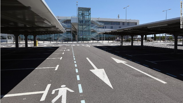 The airport was designed to handle 10 million passengers a year. Now that silhouette is about the closest thing to one.