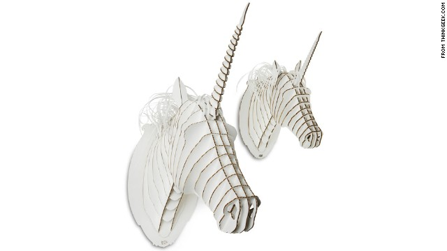 Teenagers want the independence of adults, but they haven't given up on all the whimsy of childhood. Gifts that give a nod to their imagination, like these cardboard unicorn trophy heads from <a href='http://www.thinkgeek.com/' target='_blank'>ThinkGeek</a>, are a great, affordable example.