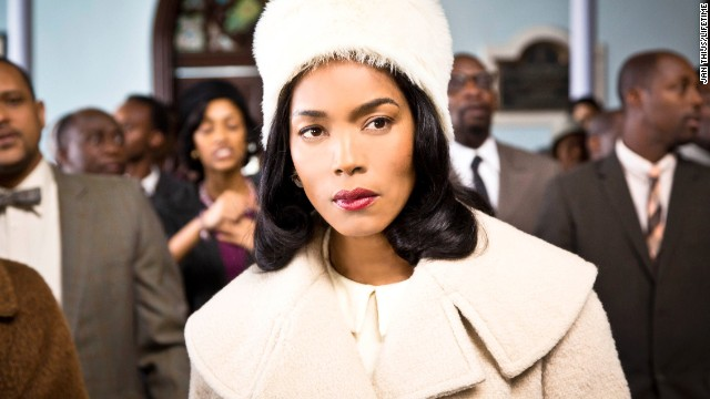 "Outstanding female actor in a TV movie or miniseries: Angela Bassett ""Betty & Coretta"" (pictured); Helena Bonham Carter ""Burton and Taylor;"" Holly Hunter ""Top of the Lake;"" Helen Mirren ""Phil Spector;"" Elisabeth Moss ""Top of the Lake."""