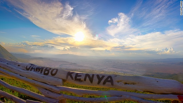 "A photography competition is celebrating Kenya's 50th year of independence from British rule.<!-- --> </br>Kelvin Shani said of his image capturing a sunset at the Rift Valley: ""It was photographed at the viewpoint on the way to Mai Mahiu. I see it as a very welcoming picture showcasing the raw beauty of Kenya with its vast landscapes."""