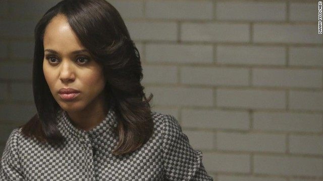 "Outstanding female actor in a drama series: Kerry Washington ""Scandal"" (pictured); Claire Danes ""Homeland;"" Anna Gunn ""Breaking Bad;"" Jessica Lange ""American Horror Story: Coven;"" Maggie Smith ""Downton Abbey."""