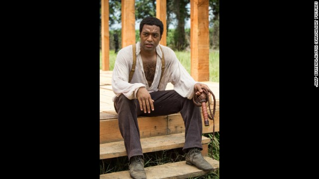"Outstanding performance by a male actor in a leading role: Chiwetel Ejiofor ""12 Years a Slave"" (pictured); Tom Hanks ""Captain Phillips;"" Matthew McConaughey ""Dallas Buyers Club;"" Bruce Dern ""Nebraska;"" Forest Whitaker ""Lee Daniels' The Butler."""