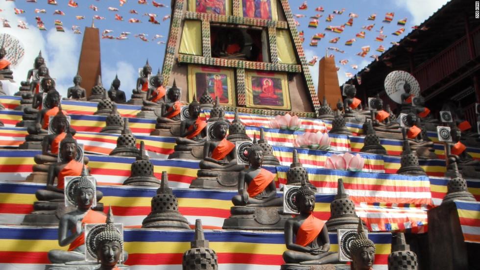 Templo budista, Colombo, Sri Lanka