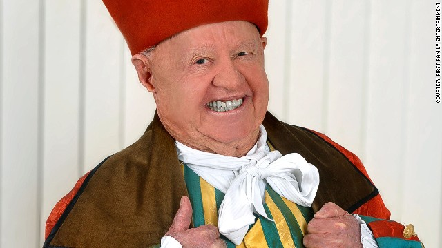 "Hollywood royalty Mickey Rooney makes his debut as Baron Hardup in ""Cinderella"" at Sunderland Empire (2007)."
