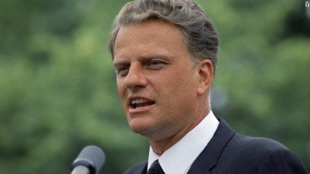 "Graham addresses an audience in June 1967. He has been listed by Gallup as one of the ""Ten Most Admired Men in the World"" more than 50 times."