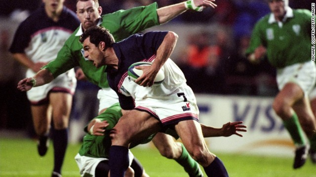 Richard Tardits made the move from NFL to rugby following three years with the New England Patriots in the early 1990s. He took part in the 1999 Rugby World Cup with the U.S. national team and also played for French club side Biarritz.
