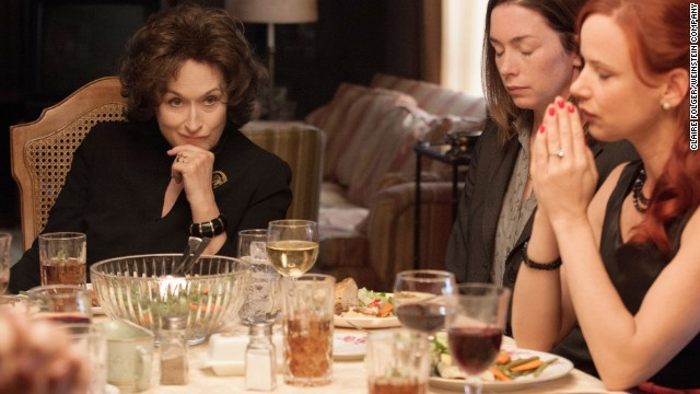"You know Meryl Streep. You know she's won a warehouse full of awards, including three Oscars (to go along with another 14 nominations). But given the competition, her performance in ""August: Osage County"" might not do it this year."