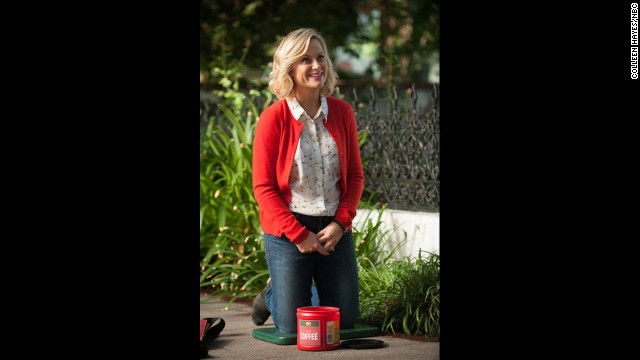 "Nominated for best actress in a television series -- comedy or musical were Amy Poehler in ""Parks and Recreation"" (pictured), Zooey Deschanel in ""New Girl,"" Lena Dunham in ""Girls,"" Edie Falco in ""Nurse Jackie"" and Julia Louis-Dreyfus in ""Veep."""