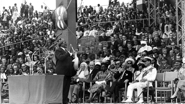 "Kenya gained independence from Britain in 1963. It is now one of East Africa's leading economies. ""Kenya's 50th independence celebrations come at a moment of great economic promise for the continent,"" says Juma."