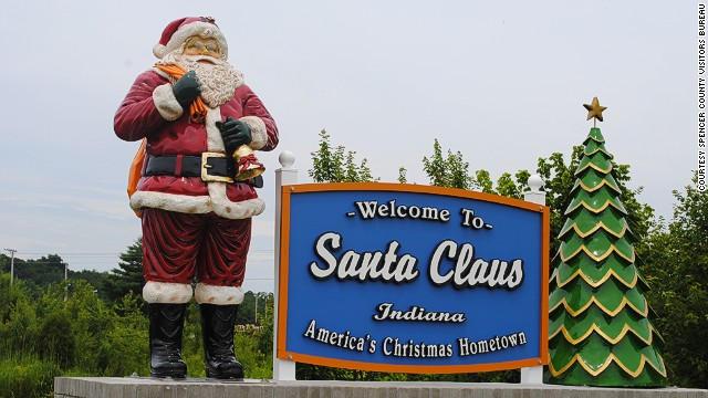 Christmas is a year-round occasion in this Midwest town of fewer than 3,000 residents. Santa Claus, Indiana, receives thousands of letters a year from children trying to reach St. Nick himself.