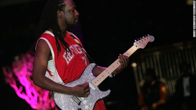 The designer's sparkling creations include a $500,000 diamond-coated guitar for hip-hop artist Wyclef Jean.