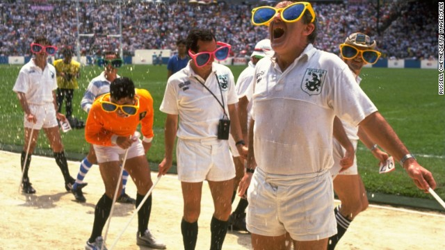 Even the referees have been known to get in on the act, as they did here in Hong Kong in 1989.