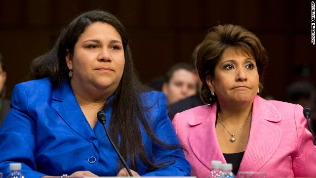 Gaby Pacheco, an immigrant rights leader and director of the Bridge Project, left, was accompanied by Janet Murguía, president and CEO of the National Council of La Raza, when Pacheco testified before Congress about the DREAM Act.