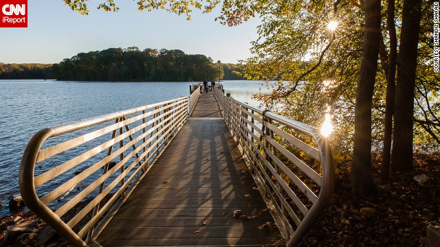 Warm autumn colors surround Virginia's Burke Lake. See more photos on CNN iReport.