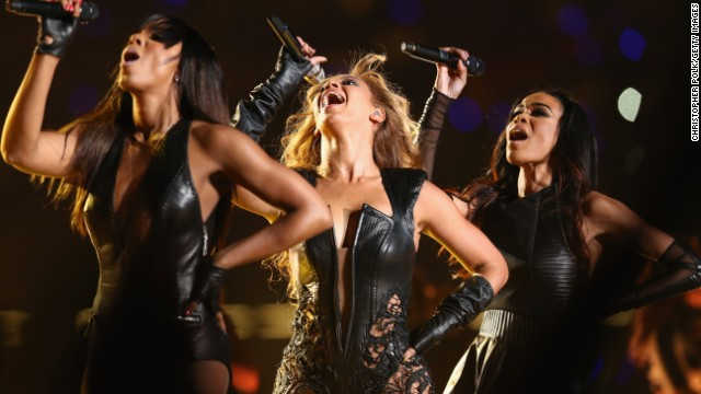 Kelly Rowland, Beyoncé and Michelle Williams reunited as Destiny's Child to perform during the Super Bowl XLVII Halftime Show on February 3, 2013, in New Orleans.
