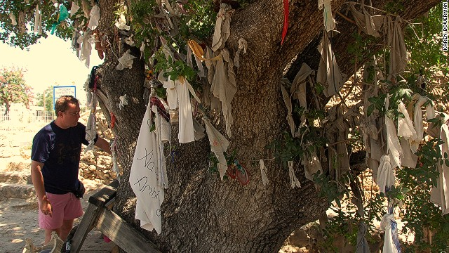 Tie a hanky, sock or any ex-love's belonging to the tree at top of the Paphos catacomb steps and he or she is more likely to return. Worth a try, anyway.
