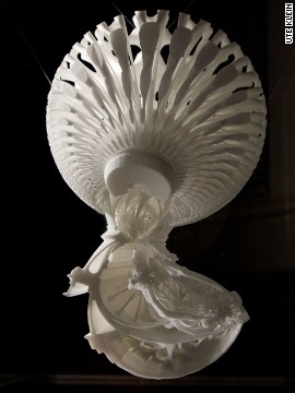 German artist <a href='http://www.kleintobias.com/' target='_blank'>Tobias Klein</a> used MRI images of his own body to create Inversive Embodiment. The 3-D printed work combines the architecture of St. Paul's Cathedral with a model of his own heart.