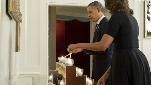 On Newtown anniversary, Obama says 'these tragedies must end'